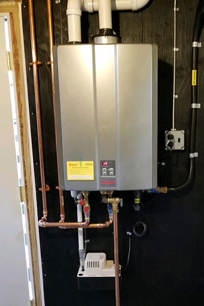 Rinnai tankless propane hot water heater